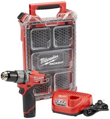 Milwaukee M12 12-Volt Cordless 1/2 in. Hammer Drill Kit w/ PACKOUT Storage Case