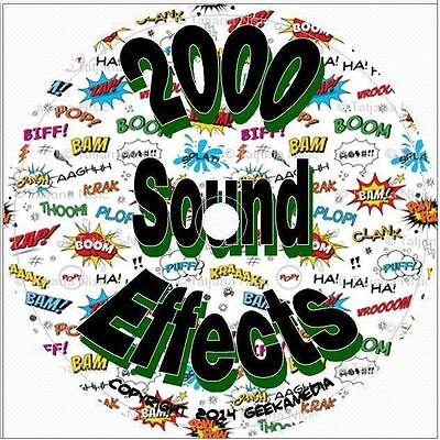 OVER 2150 Sound Effects Royalty Free WAV Audio on CD - $5 35 | PicClick