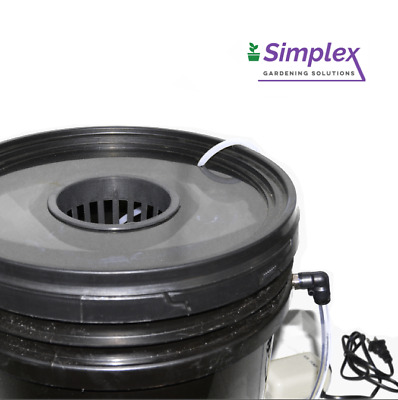 Simplex Single Pot Deep Water Culture DWC Hydroponics Bucket System Grow Hydro