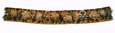 A Great Wool & Silk Tapestry Border w/ Ribbons & Flowers - Free USA Shipping