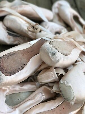 Dead Pink Ballerina Ballet Point Shoes Decor Crafting Project Lot Bloch Grishko