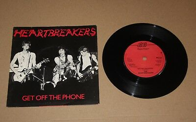 "The Heartbreakers - Get Off The Phone, 7"" single UK 1979 (BEG 21) Vg+/Ex- Punk"