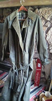 Barbour Waxed Trench Coat 38R
