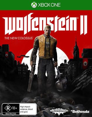 Wolfenstein 2 II The New Colossus Xbox One Game Bethesda Brand New *AUS STOCK*