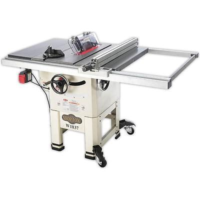 """Shop Fox W1837—10"""" 2 HP Open-Stand Hybrid Table Saw (New in Box)"""