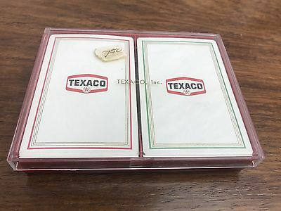 Vintage Texaco 2 Set of Advertising Playing Cards