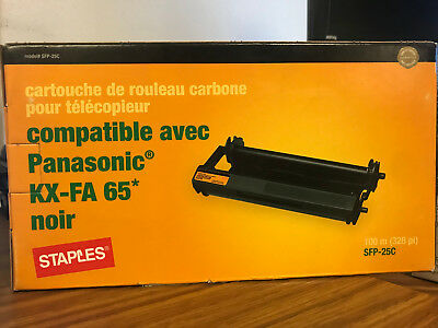 Staples Compatible KX-FA65 Fax Ribbon Cartridge For Panasonic KX-FP101