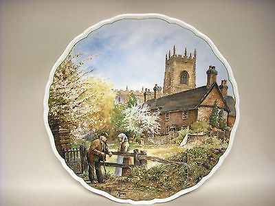 """New Royal Doulton 8 ½"""" Plate On Memory Lane 1989 Made in England with box"""