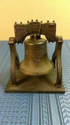 The Liberty Bell Brass Replica By Penncraft Swinging Ringing Die Cast Heavy