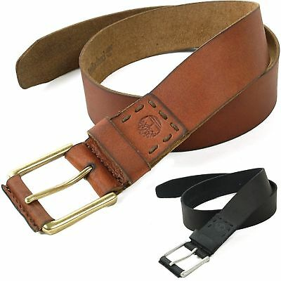 Timberland Mens Leather Belt Casual Dress Durable Strap Metal Buckle Sizes 32-42