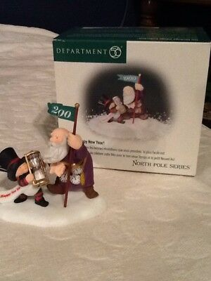 Dept 56 North Pole Series HAPPY NEW YEAR!  New In Box #56.56443