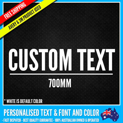 CUSTOM Name Personalised Text Sticker Decal Choose Your Own (700mm Long) Vinyl