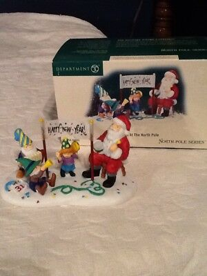 Dept 56 North Pole Series NEW YEARS AT THE NORTH POLE New In Box #56.56863