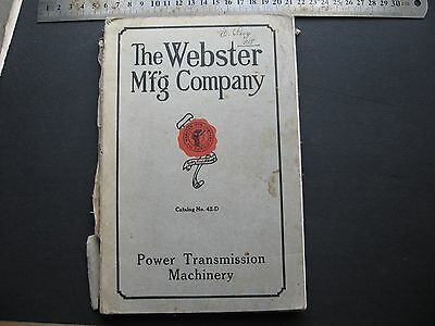 Webster Mfg Company  Power Transmission Machinery CATALOGUE