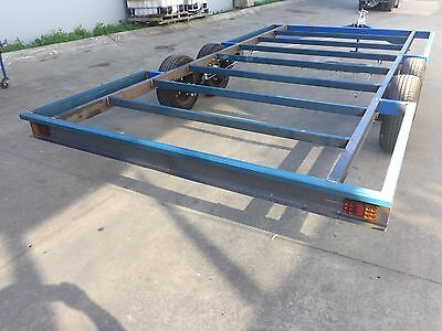 NEW 2T Trailer Tandem axle 17X8 DIY caravan enclosed tiny house frame chassis