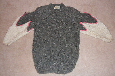 Tri-color mohair cuddly sweater, medium size, by Vivienne Poy of Canada