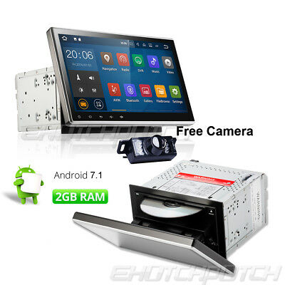 "In Dash Android 7.1 10.1"" 2Din Car GPS Stereo Radio DVD Player Wifi+Free Camera"