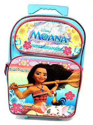 "lunchbag Disney Moana 12/"" Backpack Roller Small Backpack Moana Rolling Backpack"