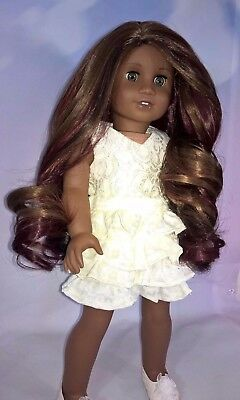 10-11 Custom Doll Wig fit Blythe-American Girl-1/4 Size Doll TWISTED HARVEST bn3