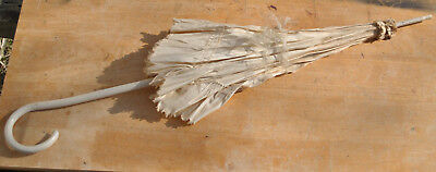 Antique Painted Wood Handled Parasol Victorian