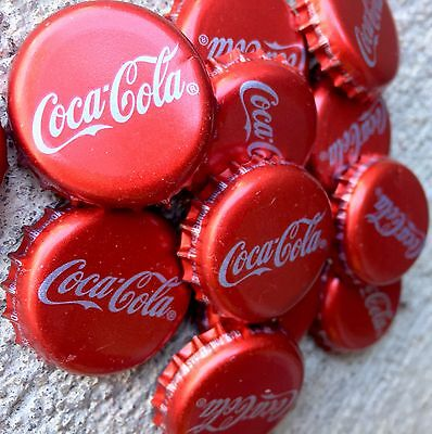 40 Coca Cola Mexican Coke Metal Bottle Caps, used & clean for collection / craft