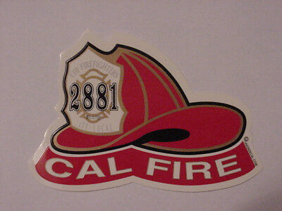 CAL FIRE/CDF IAFF LOCAL 2881 AUTO HELMET DECAL- Free Shipping