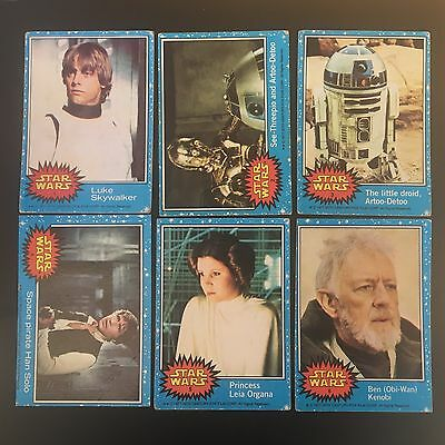 1977 Star Wars Series 1 (Blue) Set of 66 cards