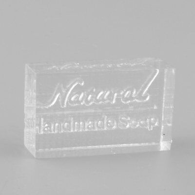 Acrylic Rectangle Natural Word Design Handmade Soap Stamp Seal Mold Craft DIY