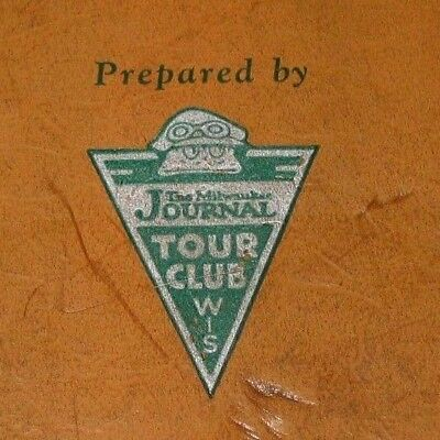 1927 Milwaukee Journal Tour Club Open Road Map Book Wisconsin Outdoor Guide