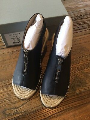 Trenery By Country Road Navy Espadrilles Size 38 / 7 Bnib Rrp $199.00 Leather