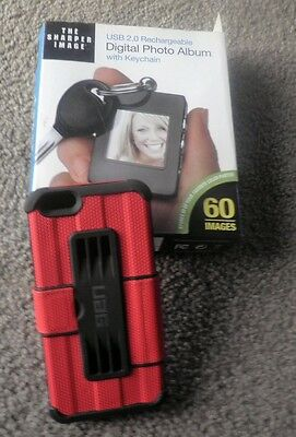 Digital Photo Album With Key Chain The Sharper Image 60 Images Rechargeable New