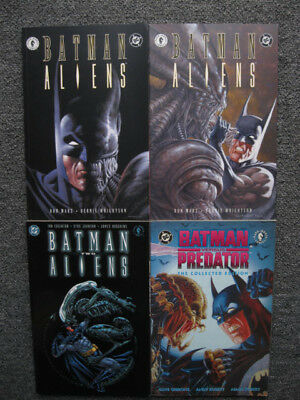 Batman vs Aliens 1 2, 2, Predator Trade Paperback TPB set graphic novel lot