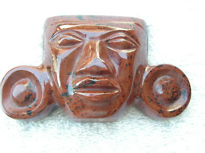 Mask  Mahogany Obsidian Stone Black & Red Color New.