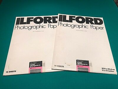 Ilford Multigrade III RC Deluxe MG Glossy 11x14, 20 sheets, Sealed!