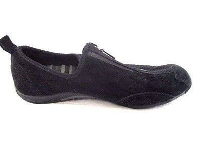 Merrell Barrado Midnight 7M womens suede sneakers black flats leather loafers