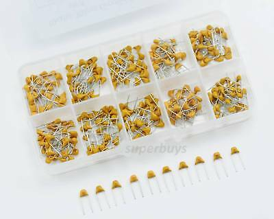 300pc 50V 10pF - 100nF Ceramic Capacitor Fixed Electrical Electric Component Set