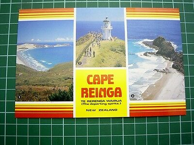 1980's - POSTCARD - 3 VIEWS OF CAPE REINGA NEW ZEALAND - TIKI CARD - NEW
