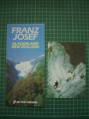 ADVERTISING + POSTCARD - 1980's FRANZ JOSEF GLACIERLAND NEW ZEALAND - NEW