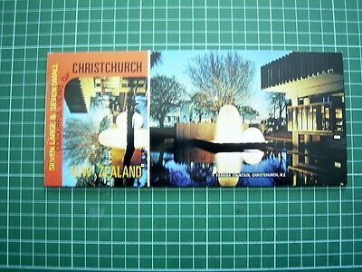 1980's Booklet with 7 Tear-off POSTCARDs -Views of CHRISTCHURCH NEW ZEALAND NEW