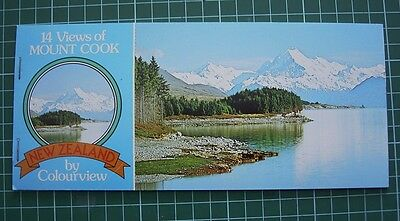 1980's Booklet with 7 Tear-off POSTCARDs - Views of MOUNT COOK NEW ZEALAND  NEW