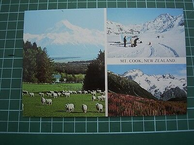 1980's  POSTCARD - views of MOUNT COOK - NEW ZEALAND - ColorView CM9004 NEW