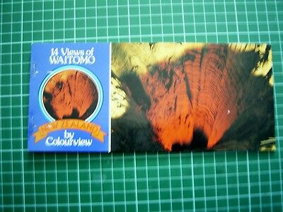 1980's Booklet with 7 Tear-off POSTCARDs - Views of WAITOMO NEW ZEALAND - NEW