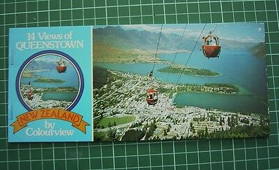 1980's Booklet with 7 Tear-off POSTCARDs - Views of QUEENSTOWN NEW ZEALAND -NEW
