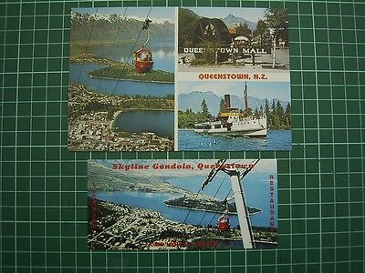 ADVERTISING + POSTCARD - 1980's SKYLINE GONDOLA QUEENSTOWN NEW ZEALAND - NEW