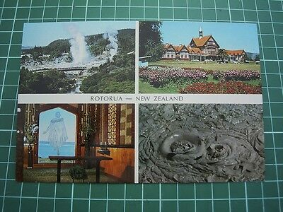 1980's  POSTCARD - 4 Views around  ROTORUA- NEW ZEALAND - NEW