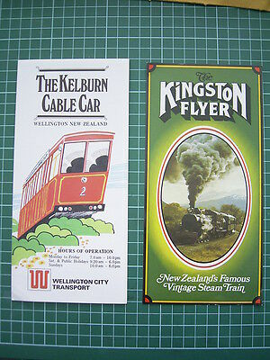 1980's Advertising leaflets- KINGSTON FLYER STEAM TRAIN + KELBURN CABLE CAR - NZ