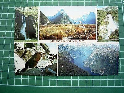 1980's  POSTCARD - views at MILFORD SOUND  -  NEW ZEALAND  ColorView MS9126 NEW