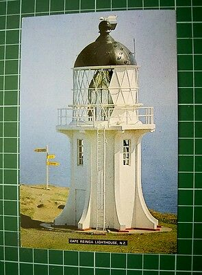 POSTCARD LIGHTHOUSE AT CAPE REINGA - Pmk 4 Mar 1985 at Cape Reinga NEW ZEALAND