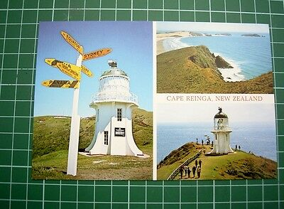 1980's - POSTCARD - 3 VIEWS OF CAPE REINGA NEW ZEALAND - colour viewNU9144 - NEW