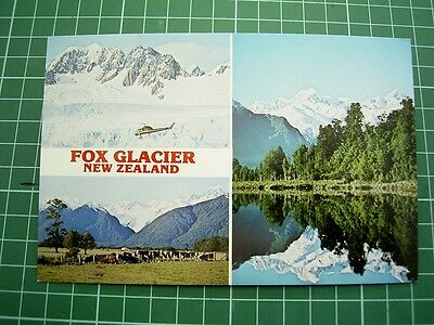1980's  POSTCARD - views of FOX GLACIER - NEW ZEALAND - TIKI P.2425 - NEW